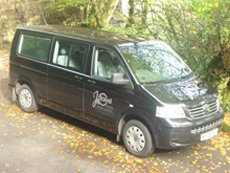 our minibus on a driveway