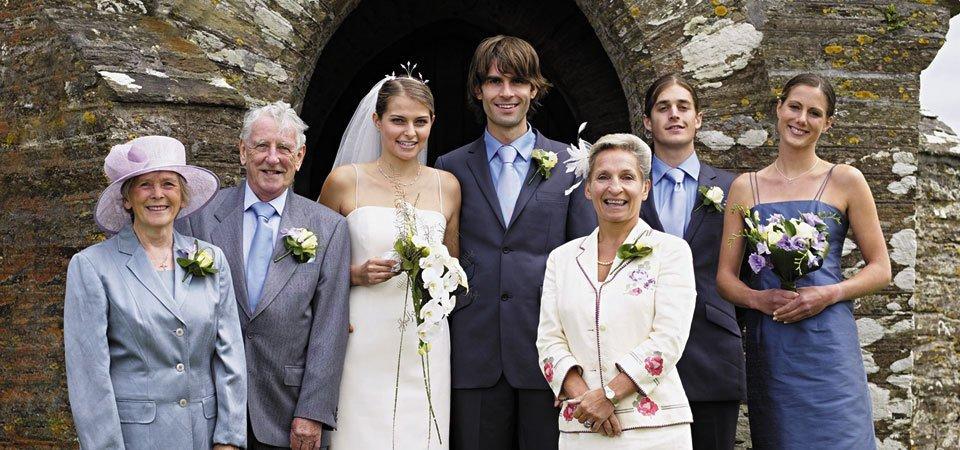 A wedding photo