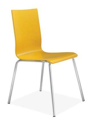 sedia con struttura in metallo