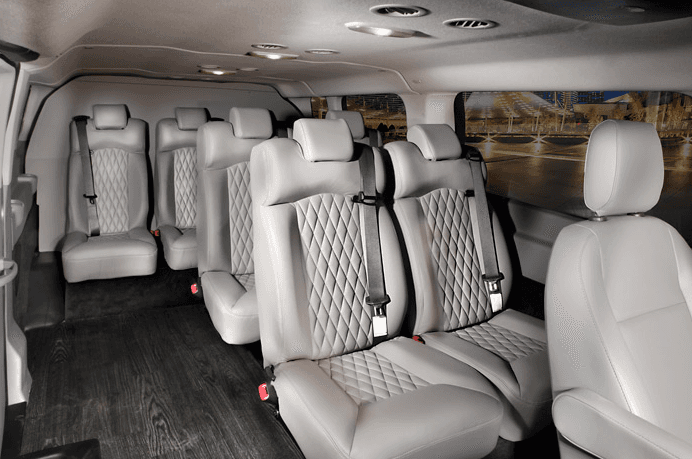 chauffeured van rental