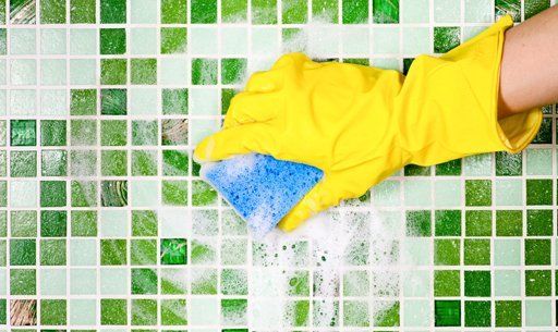 Cleaning mosaic tiles