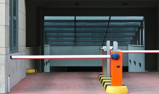Security barriers for underground parking