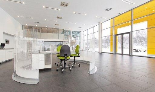 A corporate reception area