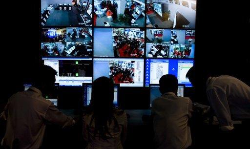 A CCTV control centre