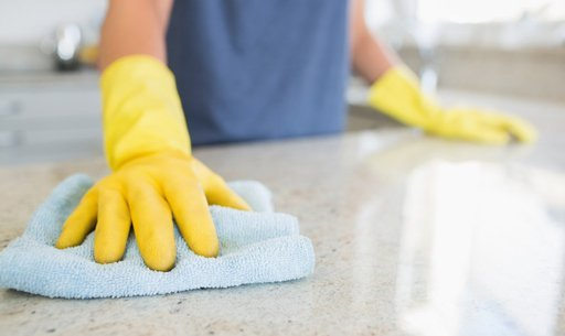 Cleaning a kitchen surface