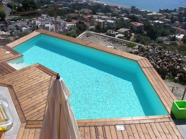Piscina in terrazza - Gervasio Piscine Savona