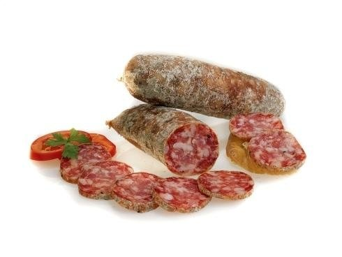 Fresh and aged salami