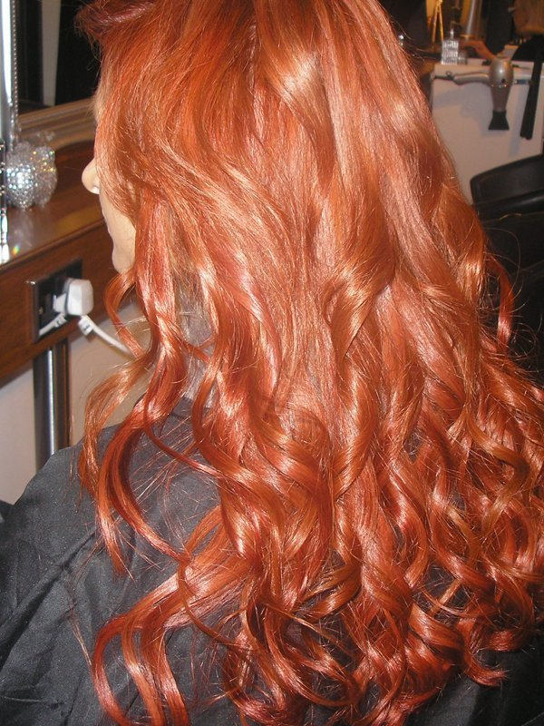 curly red coloured hair