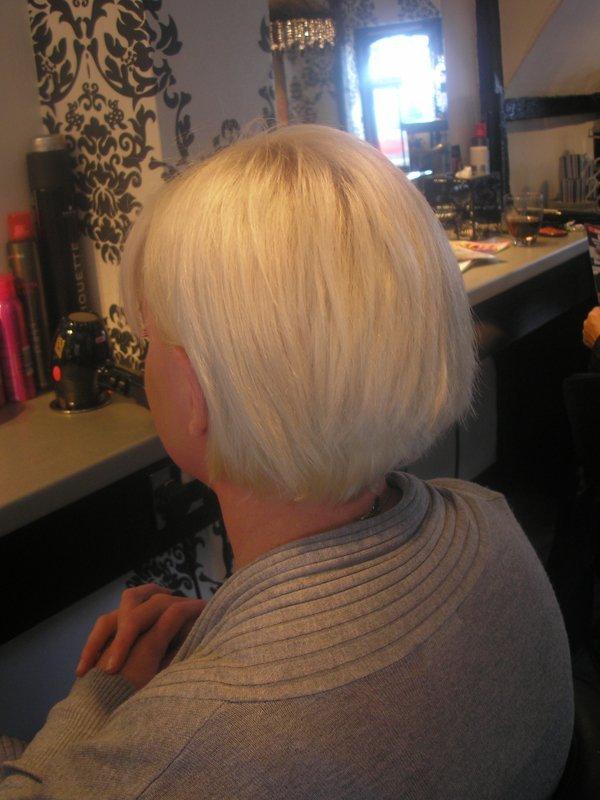 white short hair