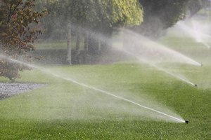 Water pumps working the sprinklers on the Morningnton Peninsula