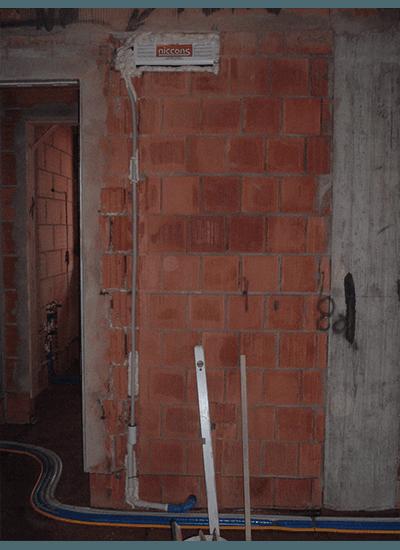 Interni di una casa in costruzione