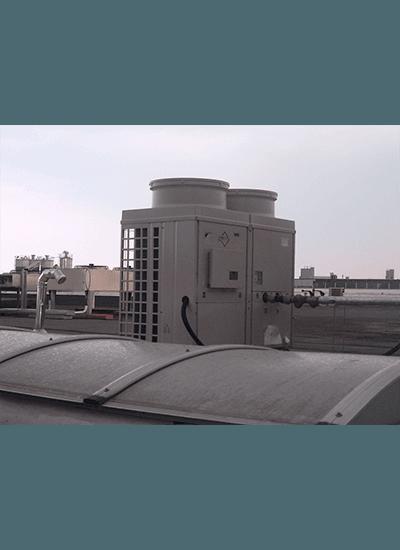 Impianto di condizionamento su un tetto