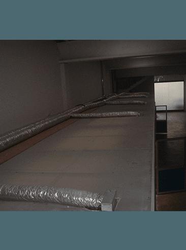 Immagine degli interni dii una fabbrica