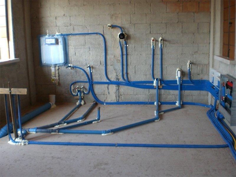 Impianto idraulico in una cantina