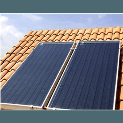 Abitato con pannelli solari