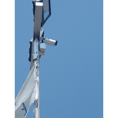 Telecamera montata su palo