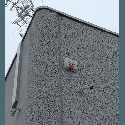 Allarme montato su parete esterna