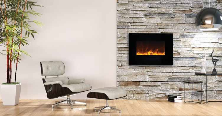 Amanti Wall Mount/Flush Mount Electric Fireplace - Taylor's Hearth & Leisure - Long Island NY