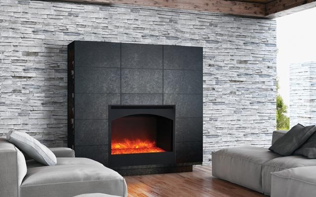 Amanti ZECL-31-3228-STL-ARCH ZERO CLEARANCE ELECTRIC FIREPLACE - Taylor's Hearth & Leisure - Long Island NY