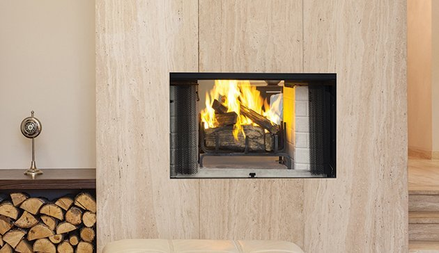 modern wood burning fireplaces - Long Island, NY