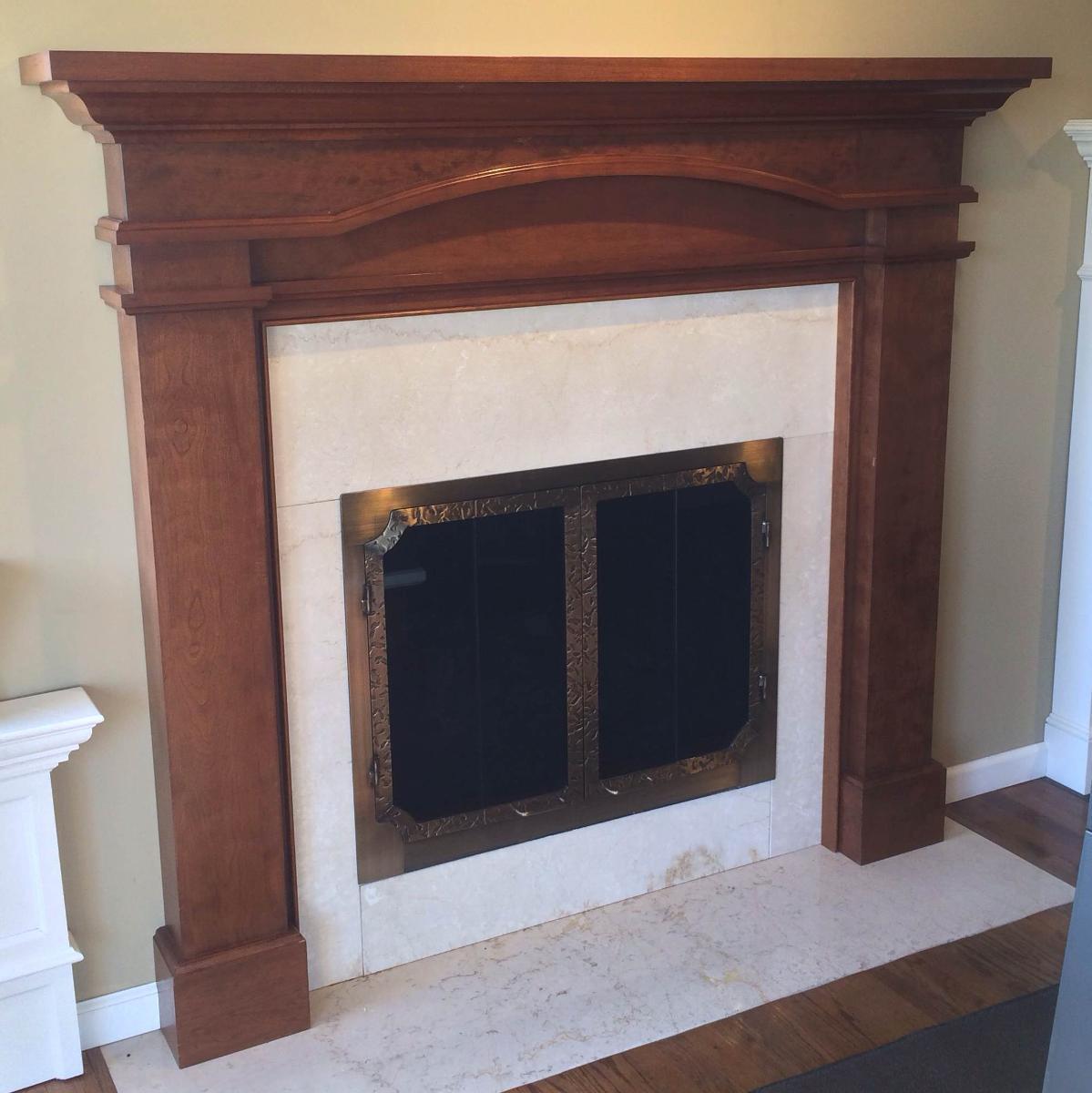 wood burning fireplace mantels - Long Island, NY