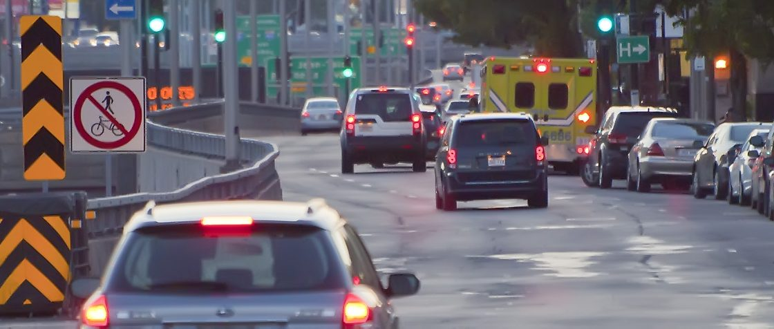 City Driving School instructor, Simon Martel took this phot of a congested street in Montreal