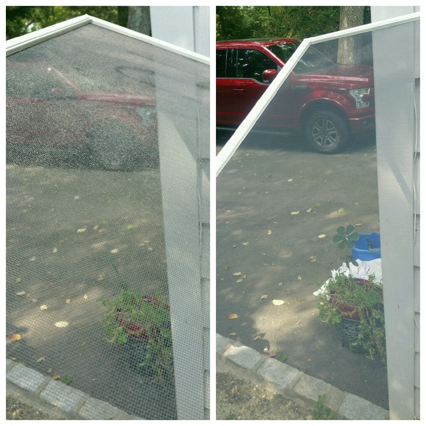 New York long island cold spring harbor window and screen cleaning.