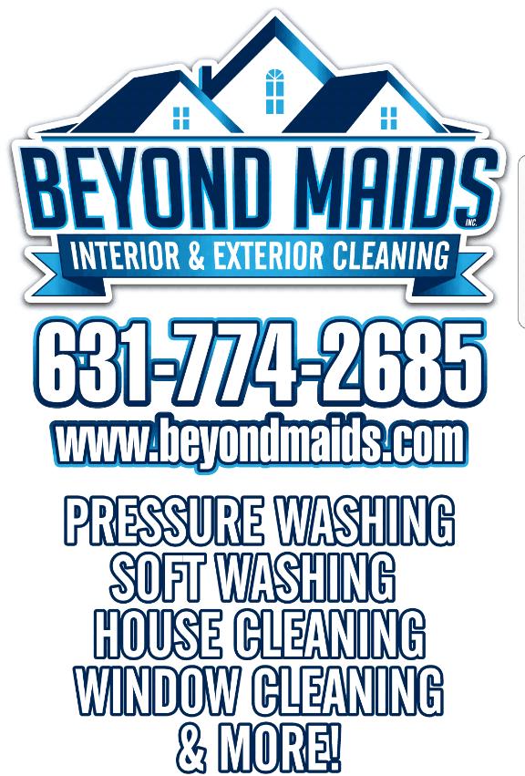 Beyond Maids inc. New York pressure washing and soft washing new logo.