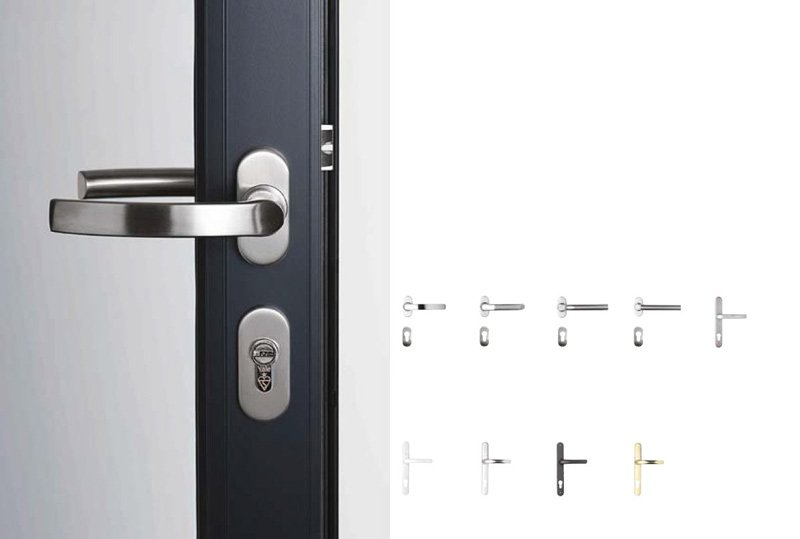 door with latch