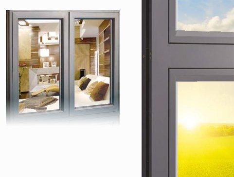 aluminium framed windows
