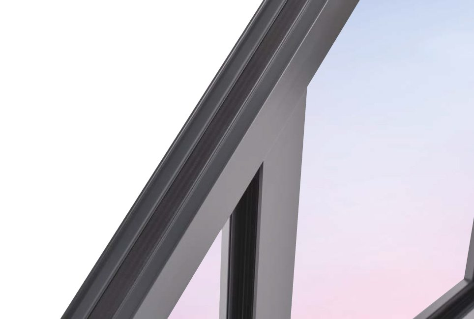 shiny metal frame