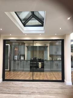 Just launching Dalzielu0027s New Origin sliding aluminium doors in our newly refurbished showroom. Pop along and have a look. Www.dalzielonline.co.uk & Aluminium Sliding Door by Dalziel