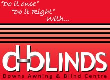 d blinds business logo