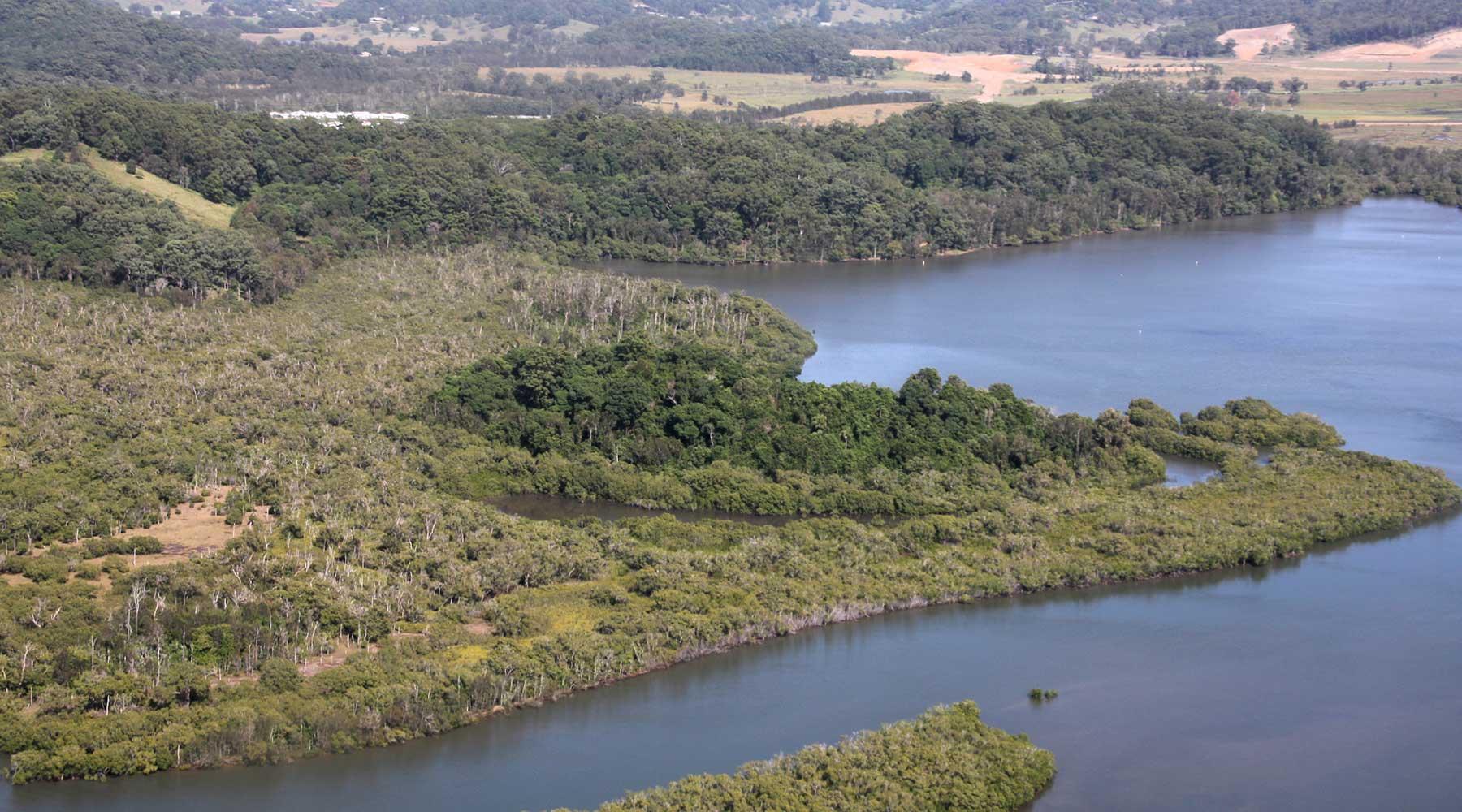 Cobaki broadwater in Queensland