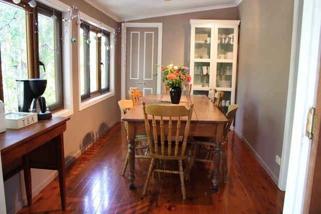 Interior view of the wooden floor room