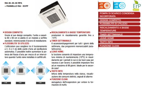 Cassetta 4 Vie RAI-RPA Canalizzabile BP RAD-RPA