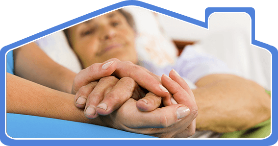 south coast home health care nurse holding hand of an elderly person