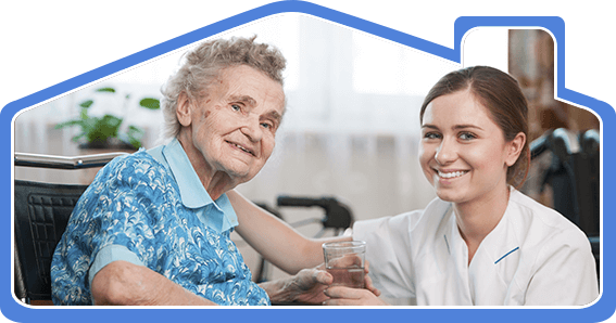 south coast home health care nurse caring for an elderly person