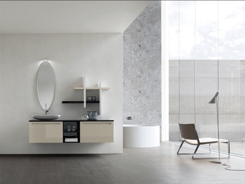 Bagno moderno in stile minimal