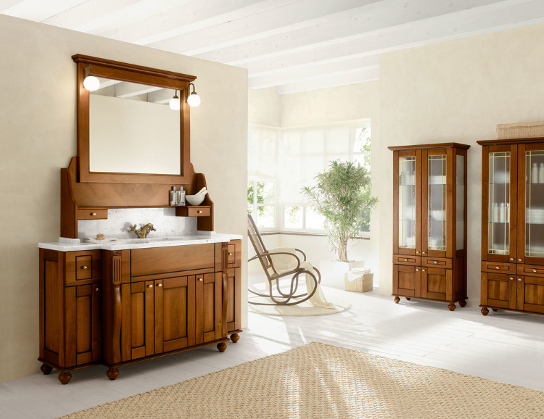 Ampio bagno in stile tradizionale