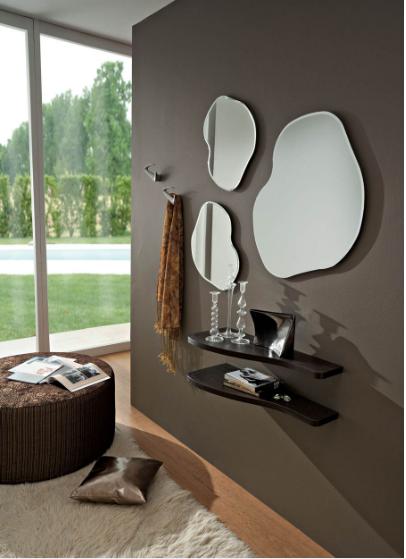 Piano a parete con 3 specchi minimal
