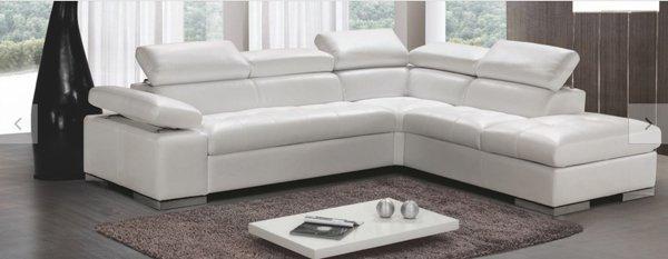 divano angolare bianco