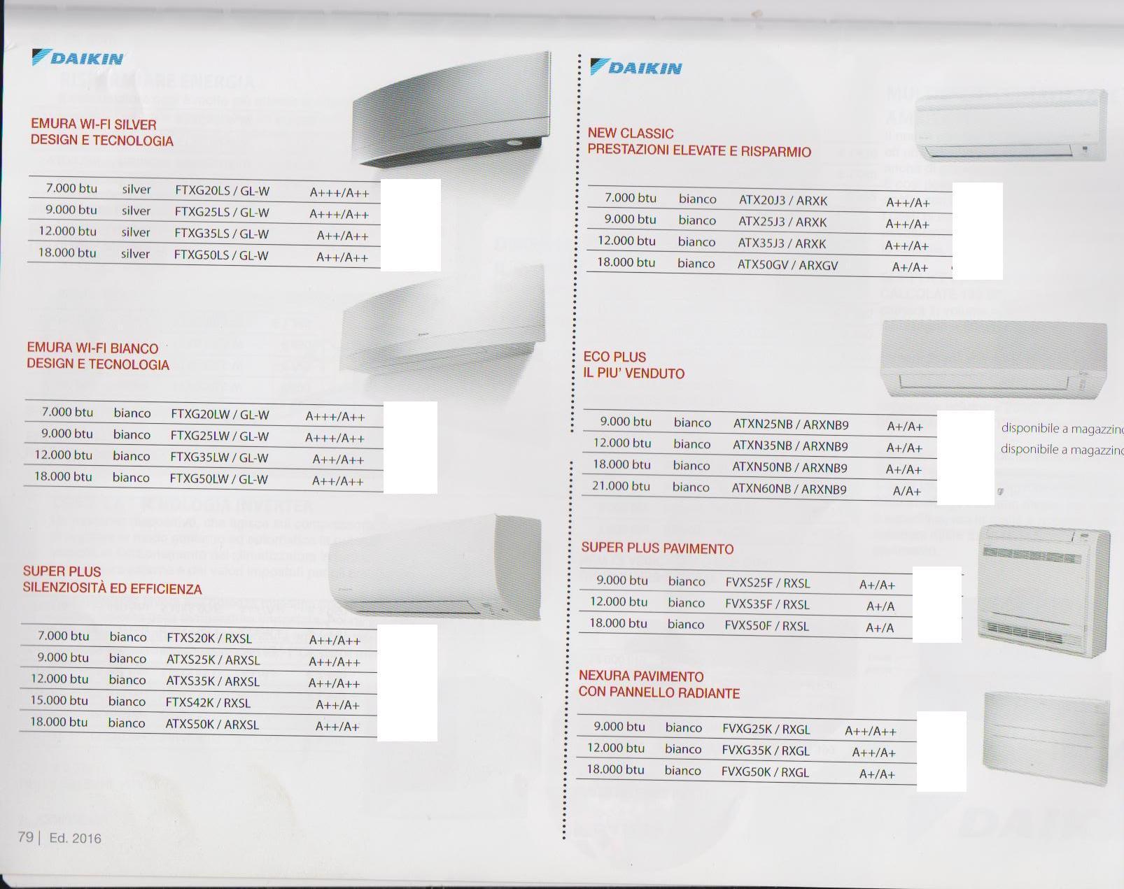 Brochure condizionatori