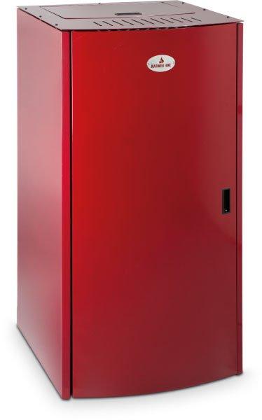 Cabina per l'impianto di riscaldamento automatico rossa