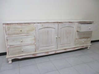 mobile buffet decapato bianco shabby chic