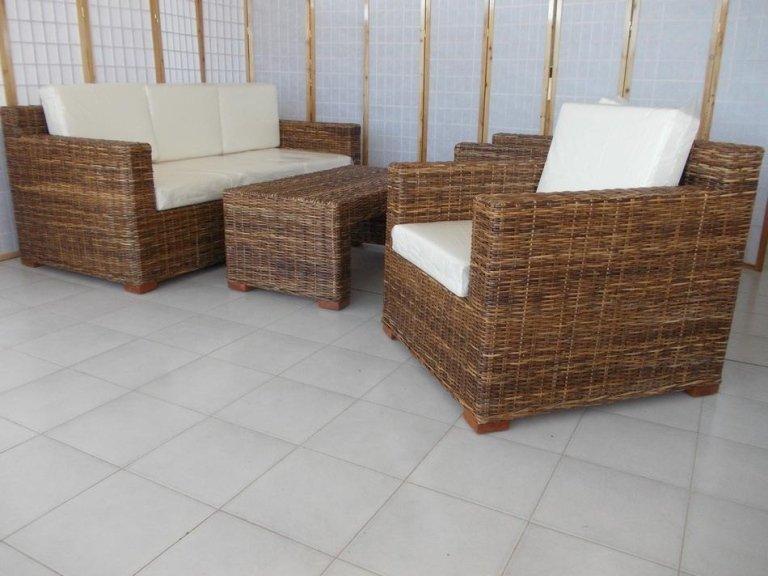Salotti Esterni Rattan.Arredamento In Rattan Midollino Vimini Naturale In Bambu