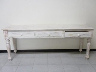 consolle mobile decapato bianco shabby
