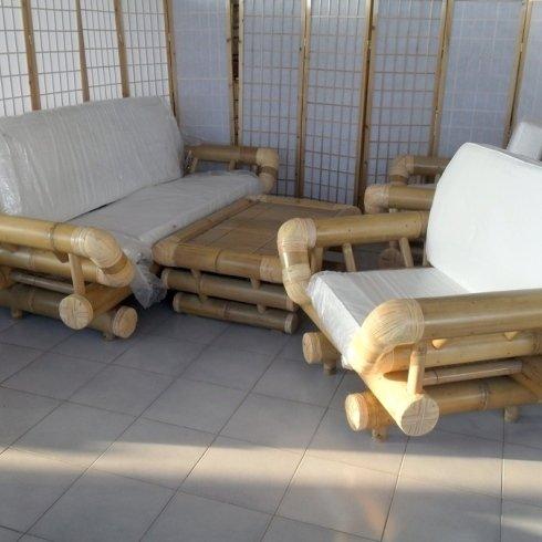 salotto bambu canna grossa