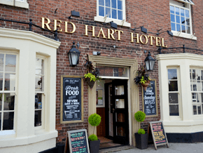 Traditional food - New Worksop, Nottinghamshire. - The Red Hart - Facade