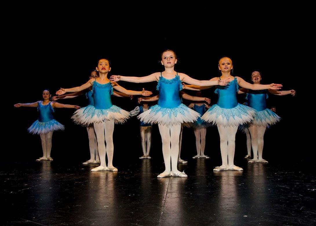 a team of girls dancing